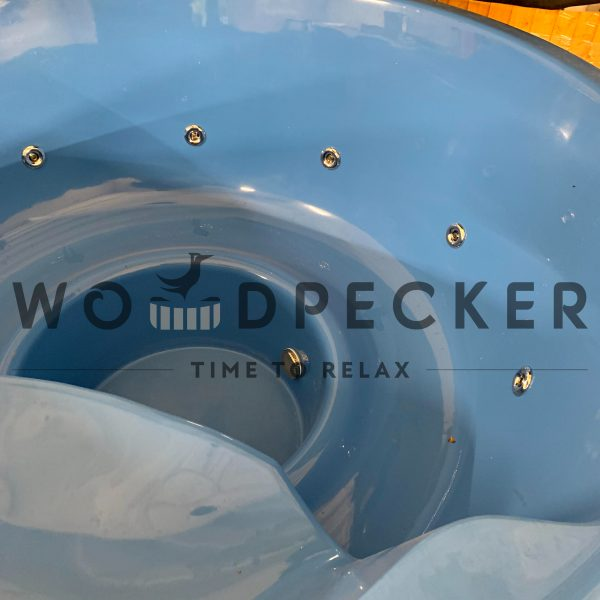stiklo pluošto kubilas su integruota krosnele